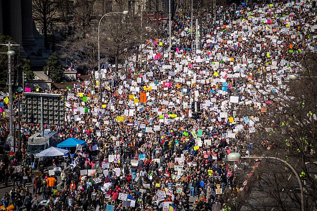 March for our Lives on Pennsylvania Avenue ,Washington, D.C., March 24, 2018. (Phil Roeder from Des Moines, IA, USA (March for Our Lives))