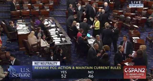 Senate Votes for Internet Freedom -- to Reverse FCC and Keep Net Neutrality. (CSPAN)