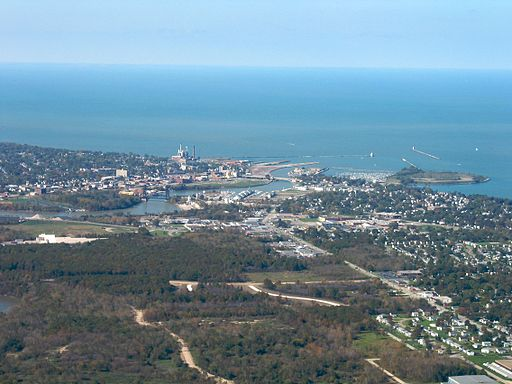 Aerial view of Lorain, Ohio