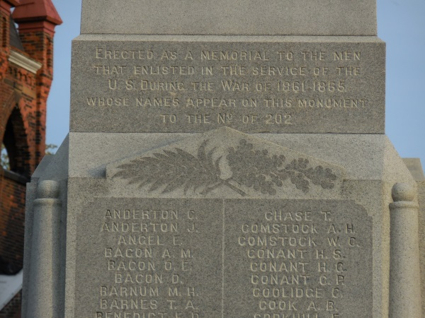 Image: Civil War soldier statue inscription; Bedford, Ohio (TheParagraph.com)