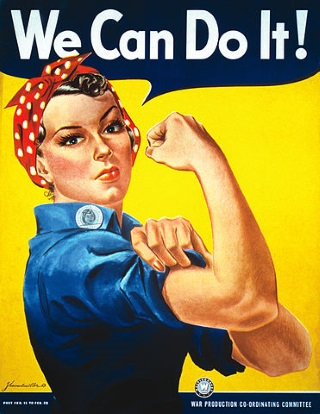 We Can Do It! AKA 'Rosie the Riveter' (J. Howard Miller; public domain)