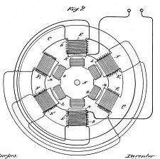 AC Motor patent drawing