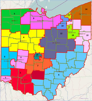 winning map in ohio congressional redistricting contest by mike fortner