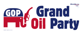 Grand Oil Party bumper sticker (moveon.org)