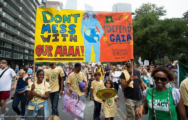 Don't Mess with Our Mama - from the 400,000-strong People's Climate March, NYC, 2014-09-21 (Robert van Waarden / Survival Media Agency)