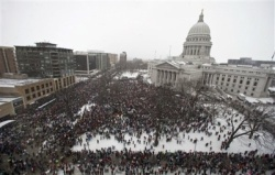 Massive rally in Madison, Wisconsin, Feb. 26th