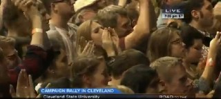 Crowd cheers the 'political revolution' at Bernie Sanders Rally, Cleveland State University, 2015-11-06 (C-SPAN)